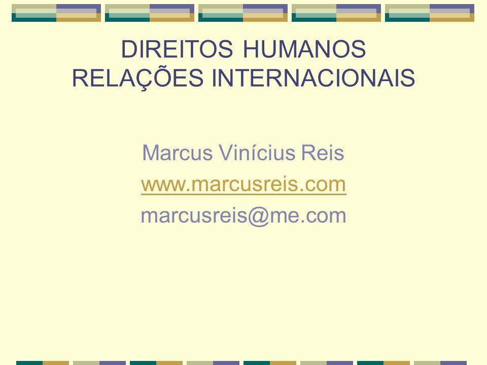 DIREITOS HUMANOS RELAÇÕES INTERNACIONAIS