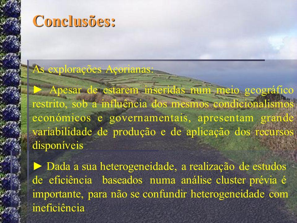 Conclusões: As explorações Açorianas: