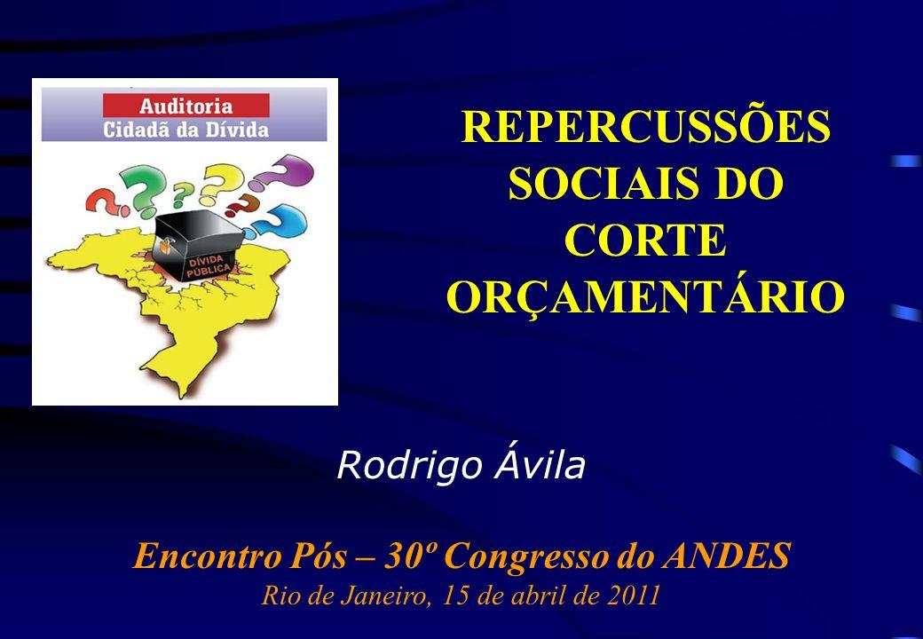 REPERCUSSÕES SOCIAIS DO CORTE ORÇAMENTÁRIO