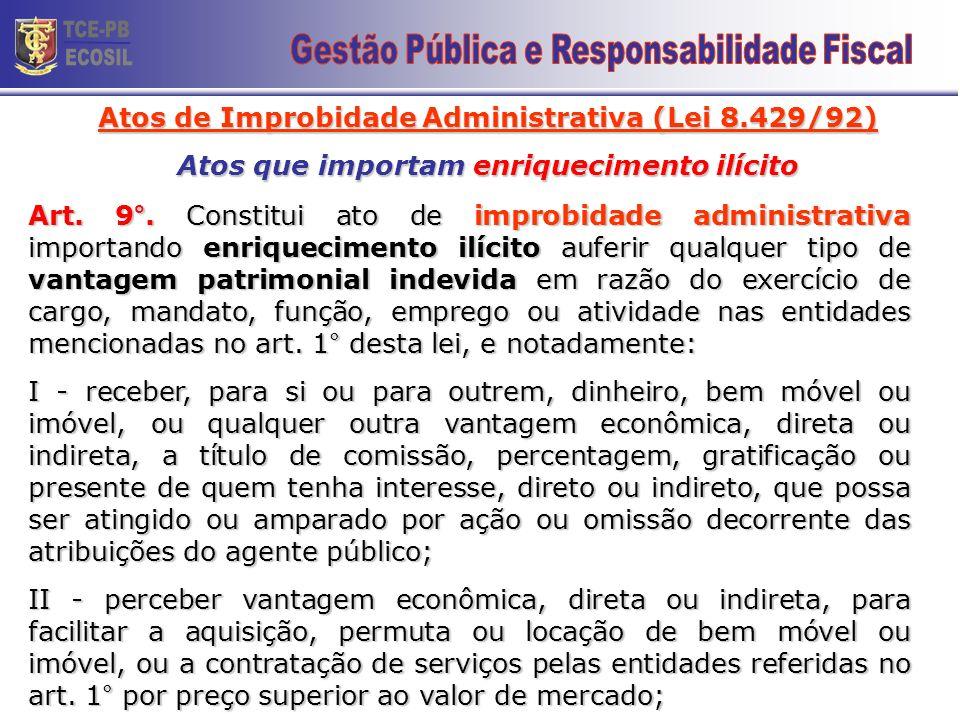 TCE-PB ECOSIL 18 Gestão Pública e Responsabilidade Fiscal