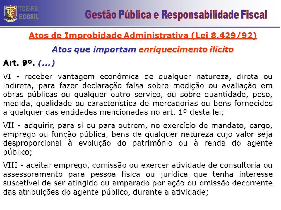 TCE-PB ECOSIL 20 Gestão Pública e Responsabilidade Fiscal