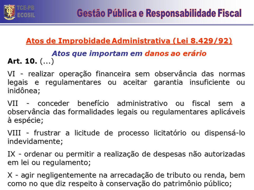 TCE-PB ECOSIL 24 Gestão Pública e Responsabilidade Fiscal