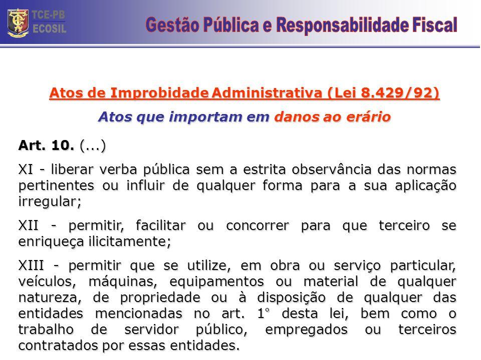 TCE-PB ECOSIL 25 Gestão Pública e Responsabilidade Fiscal