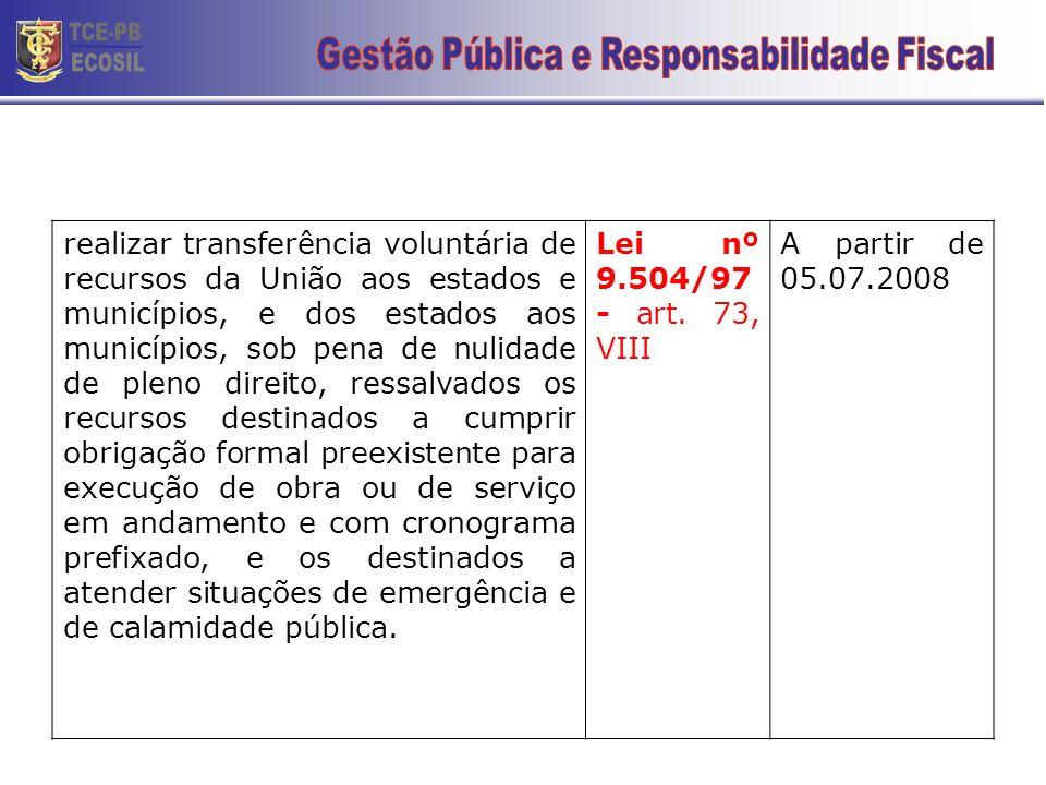 Gestão Pública e Responsabilidade Fiscal