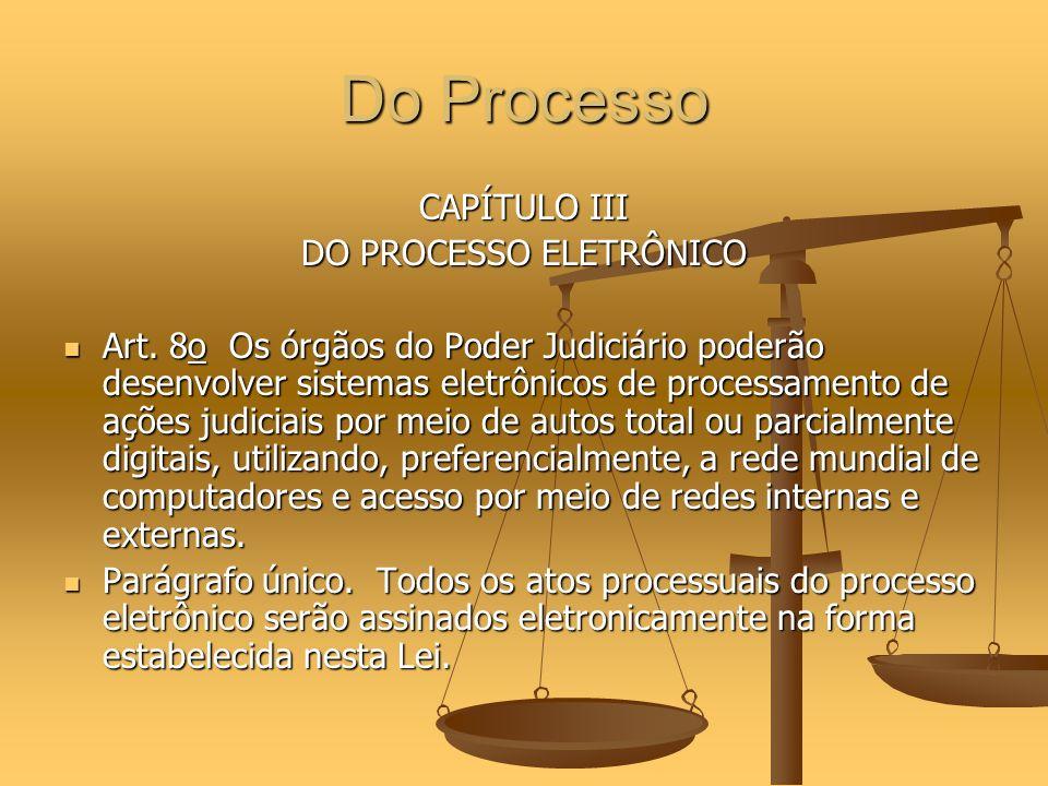 DO PROCESSO ELETRÔNICO