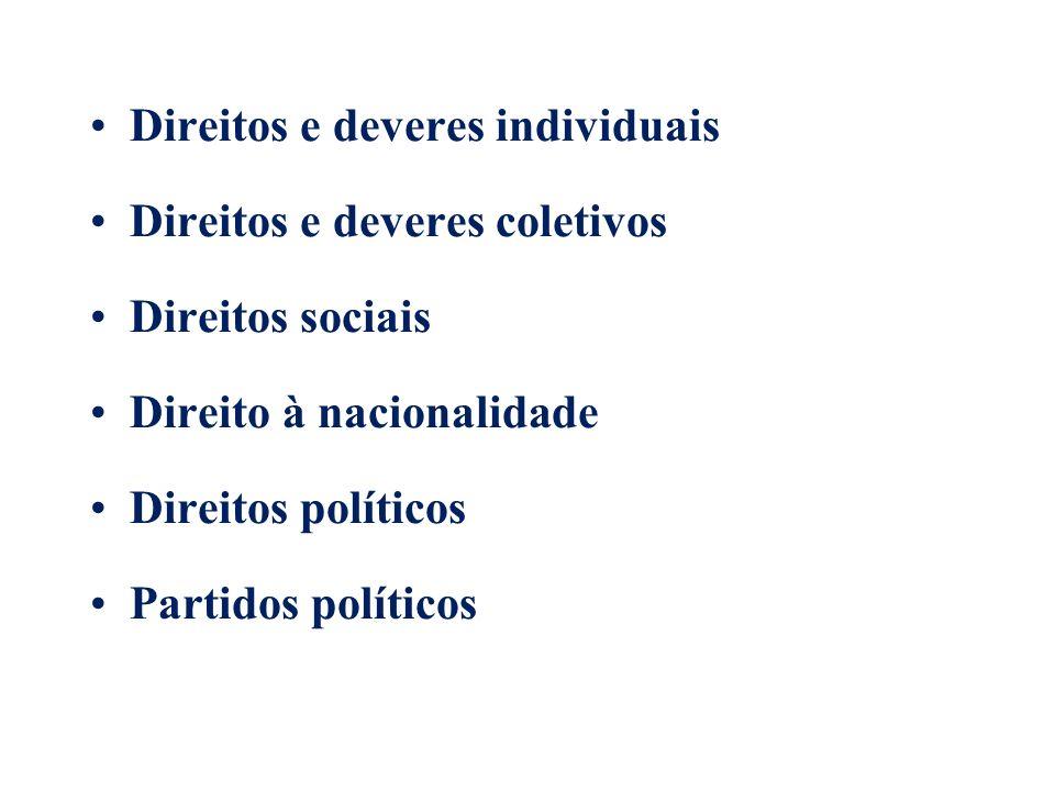 Direitos e deveres individuais