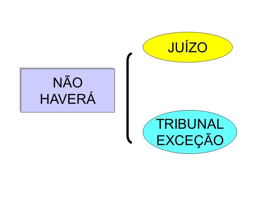 JUÍZO NÃO HAVERÁ TRIBUNAL EXCEÇÃO