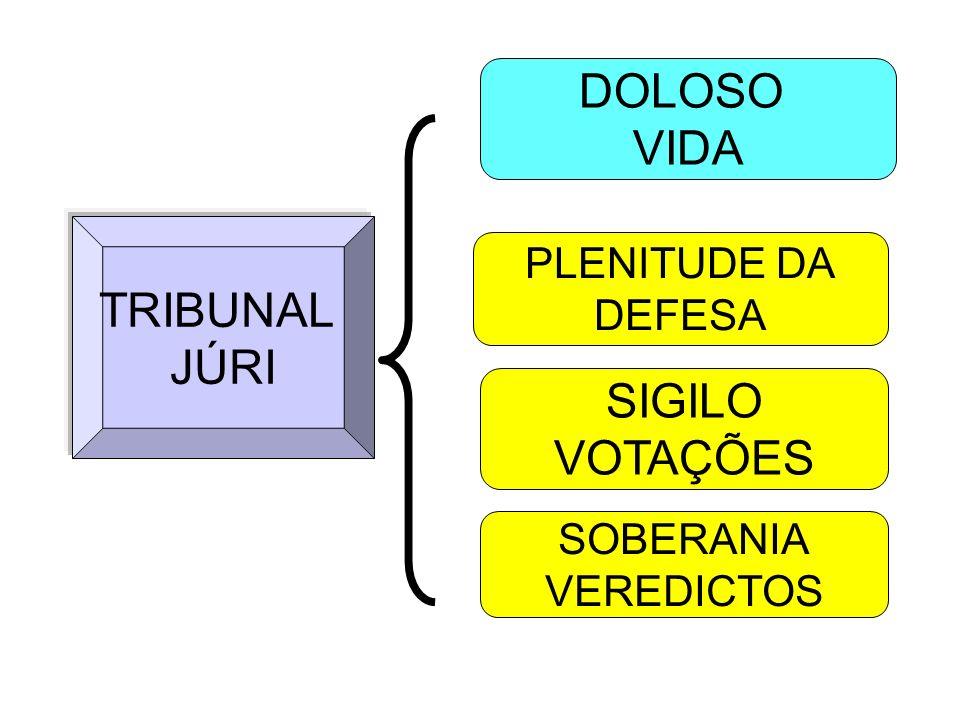 DOLOSO VIDA TRIBUNAL JÚRI SIGILO VOTAÇÕES PLENITUDE DA DEFESA