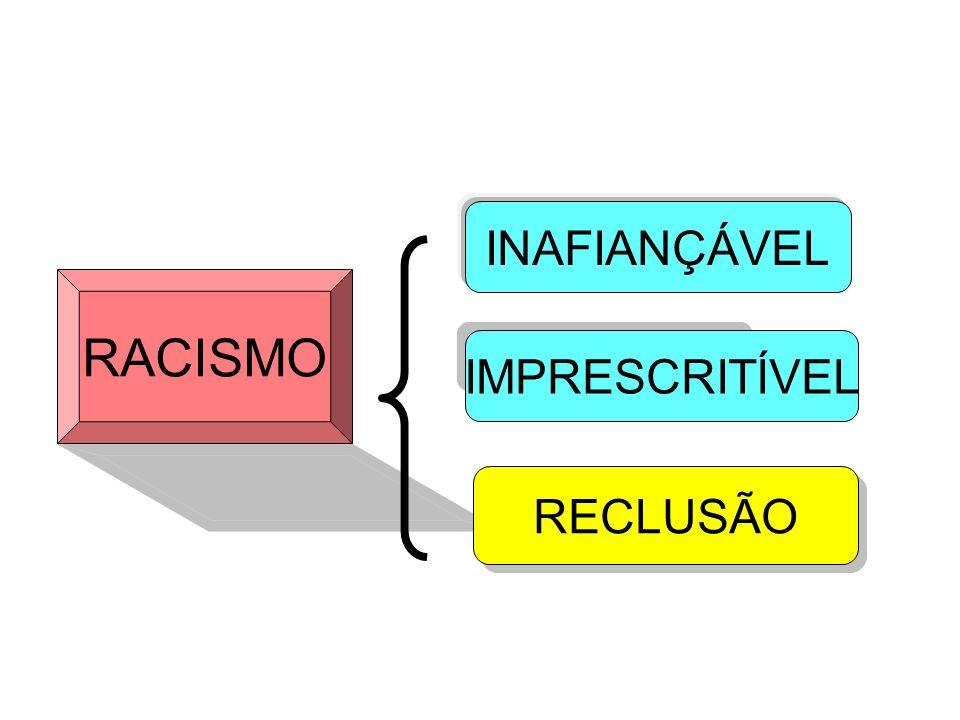 INAFIANÇÁVEL RACISMO IMPRESCRITÍVEL RECLUSÃO