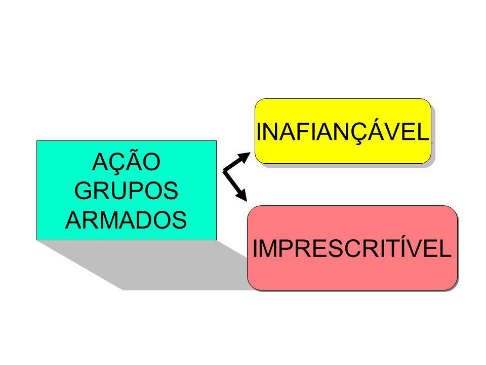 INAFIANÇÁVEL AÇÃO GRUPOS ARMADOS IMPRESCRITÍVEL
