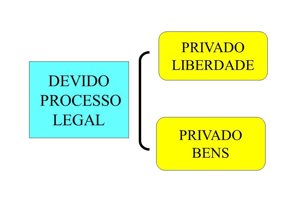 PRIVADO LIBERDADE DEVIDO PROCESSO LEGAL PRIVADO BENS