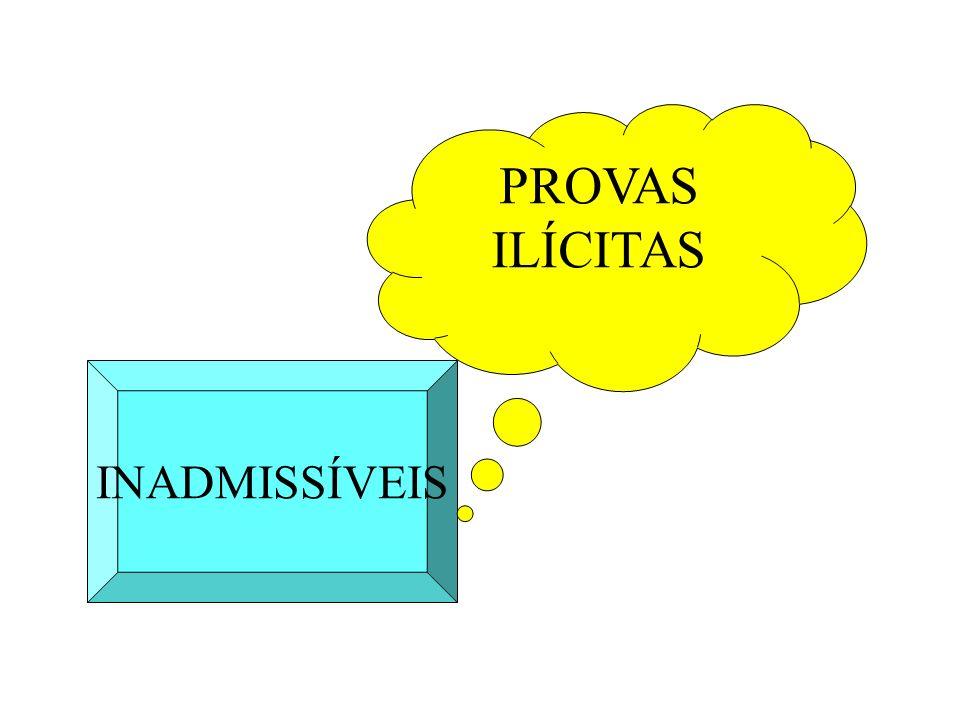 PROVAS ILÍCITAS INADMISSÍVEIS