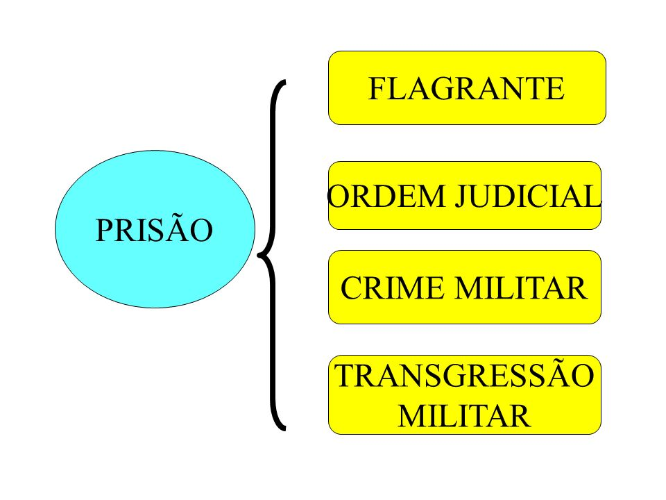 FLAGRANTE PRISÃO ORDEM JUDICIAL CRIME MILITAR TRANSGRESSÃO MILITAR