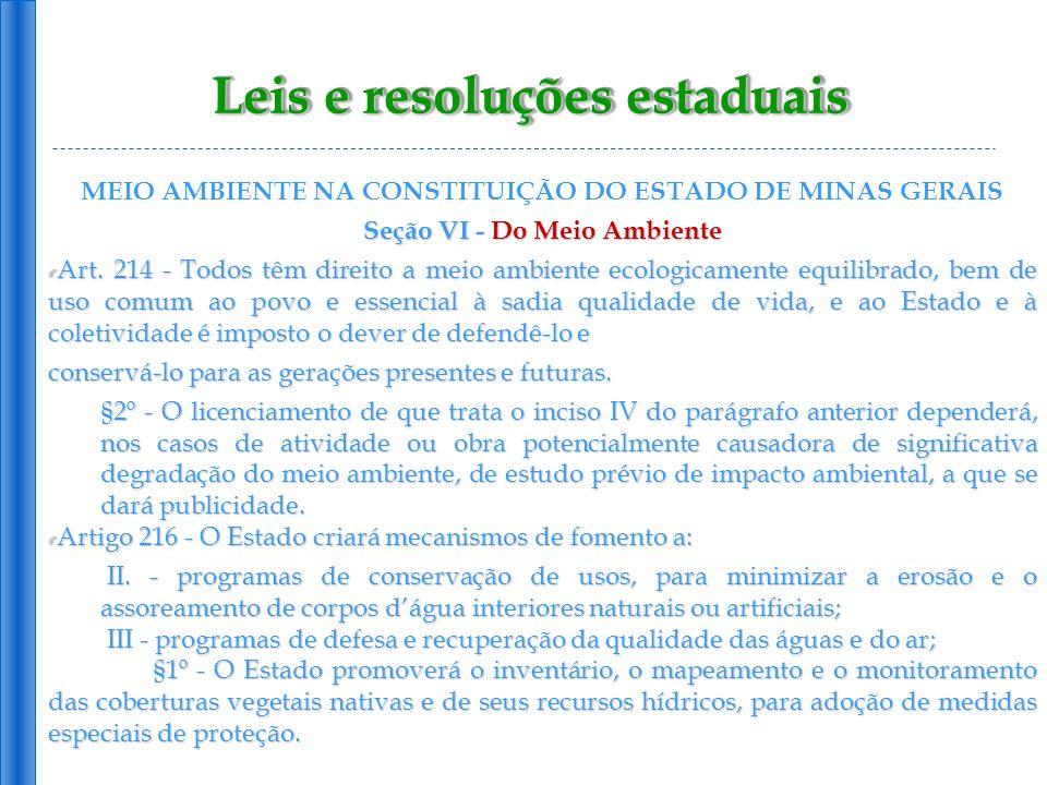 Leis e resoluções estaduais