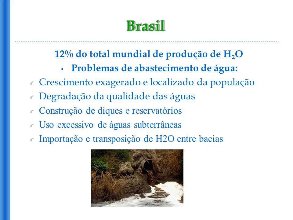 Brasil 12% do total mundial de produção de H2O