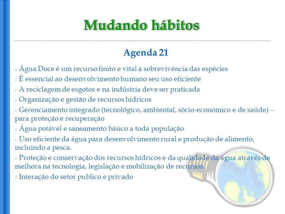 Mudando hábitos Agenda 21