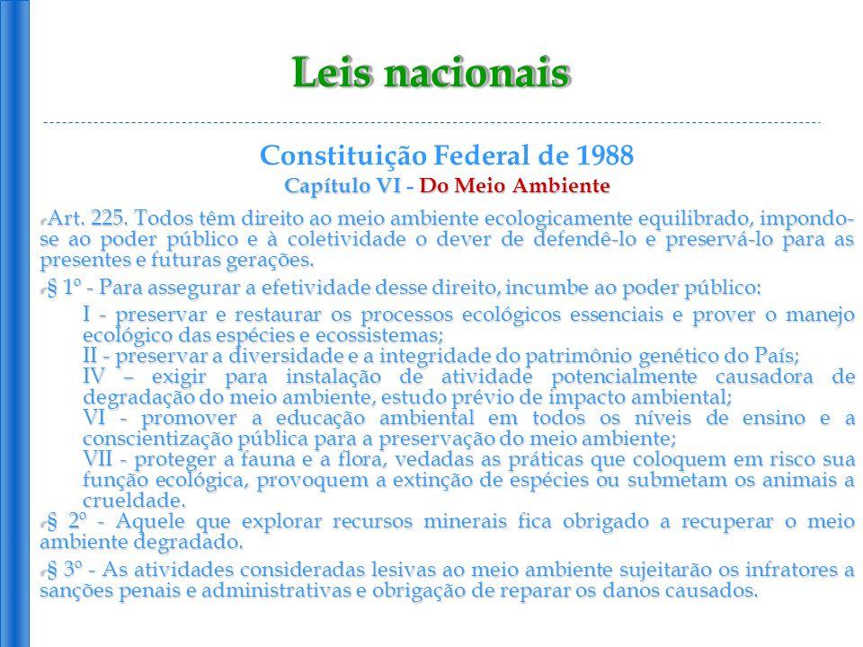 Constituição Federal de 1988 Capítulo VI - Do Meio Ambiente