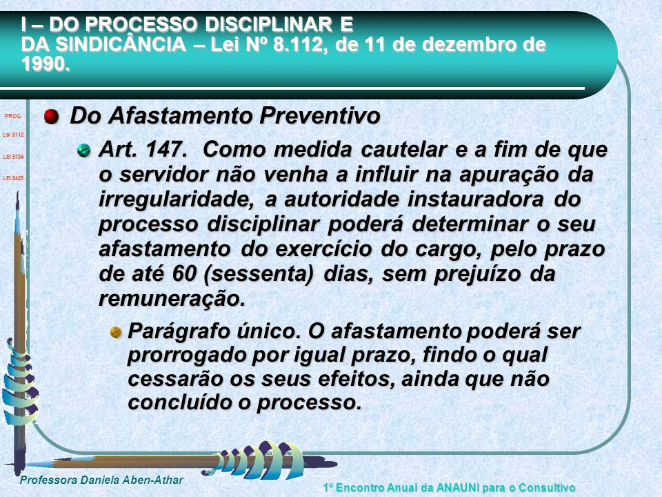 Do Afastamento Preventivo