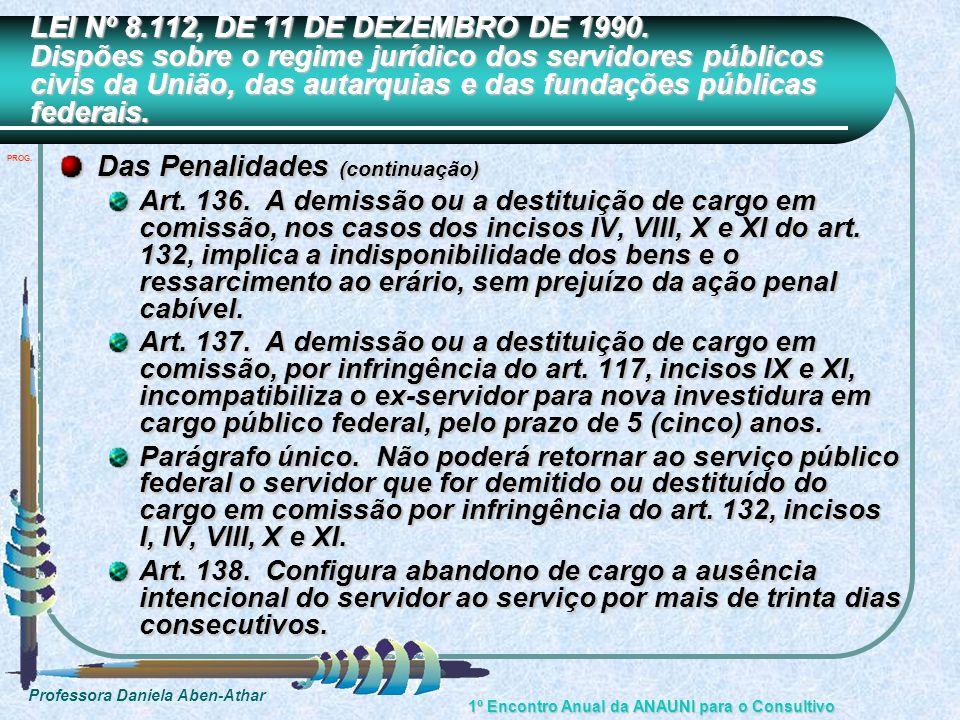 Das Penalidades (continuação)