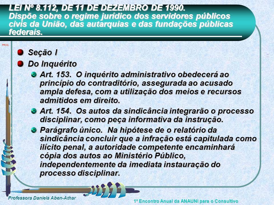 LEI Nº 8.112, DE 11 DE DEZEMBRO DE 1990. Dispõe sobre o regime jurídico dos servidores públicos civis da União, das autarquias e das fundações públicas federais.