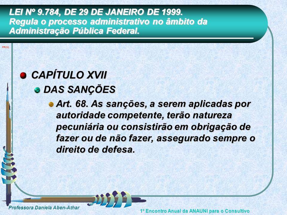 CAPÍTULO XVII DAS SANÇÕES