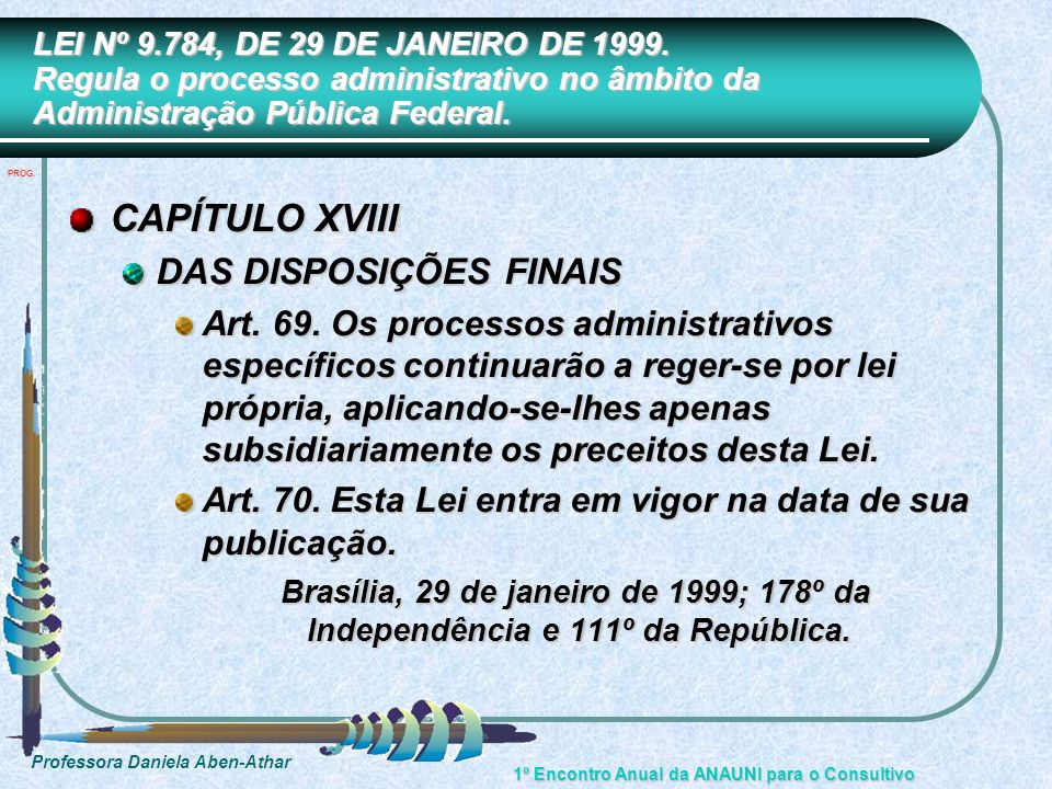 CAPÍTULO XVIII DAS DISPOSIÇÕES FINAIS