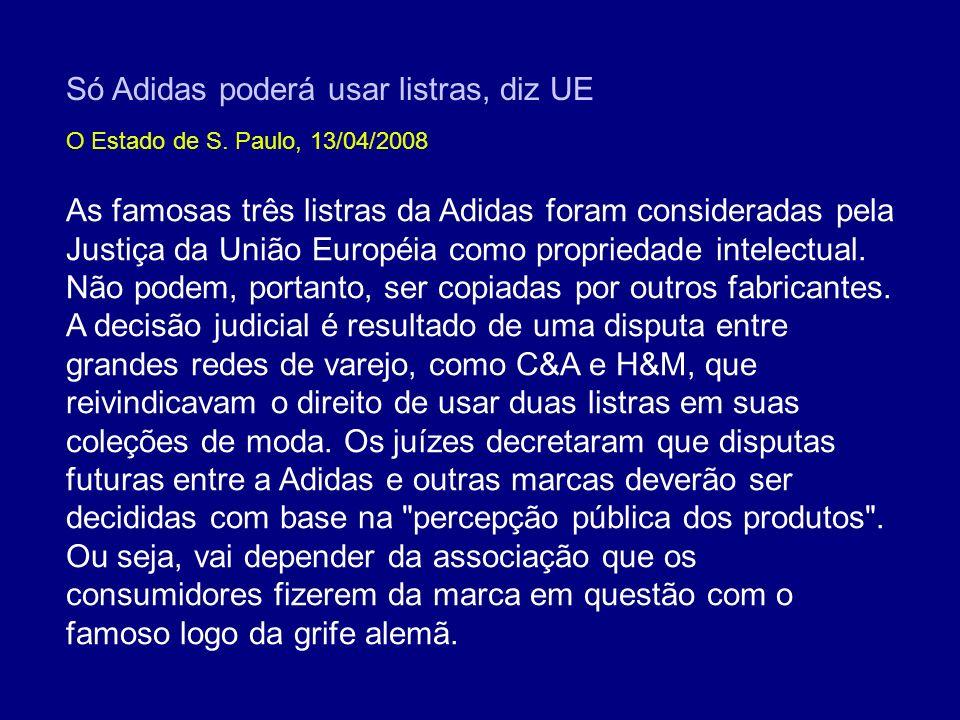Só Adidas poderá usar listras, diz UE