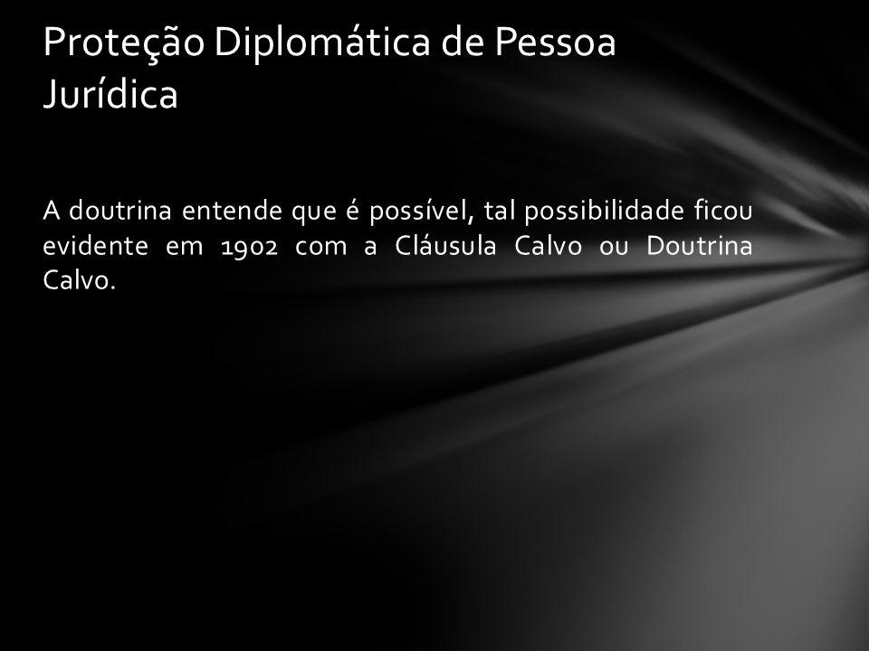Proteção Diplomática de Pessoa Jurídica