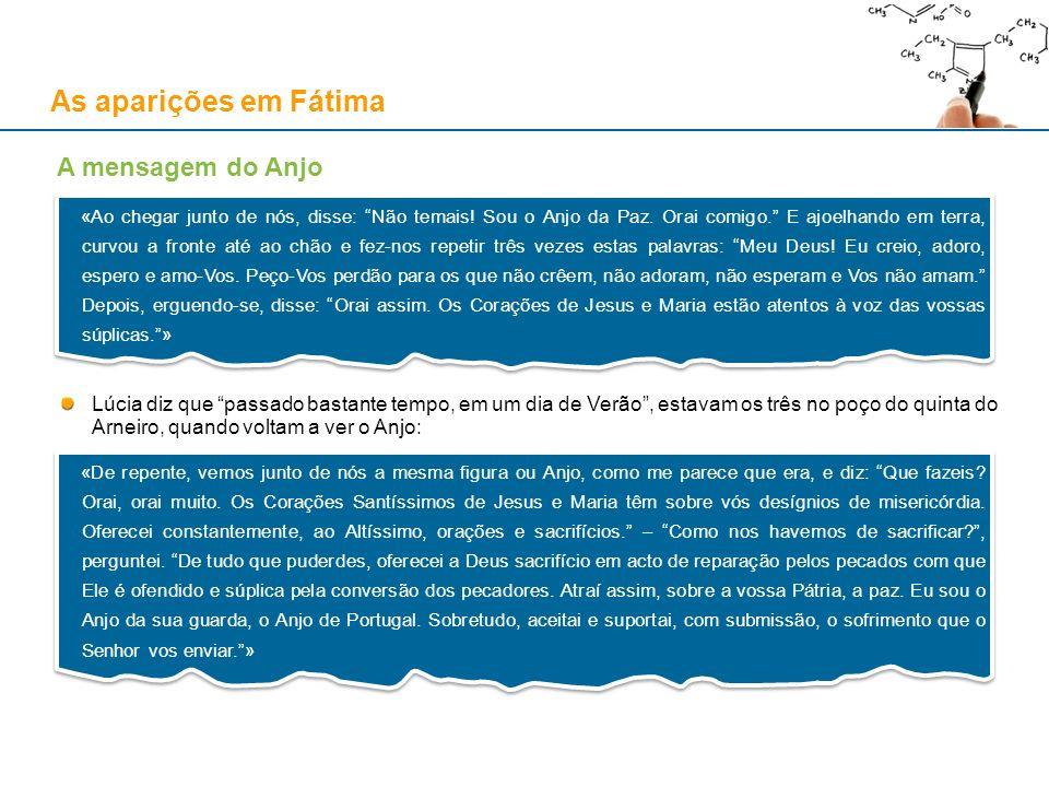 As aparições em Fátima A mensagem do Anjo