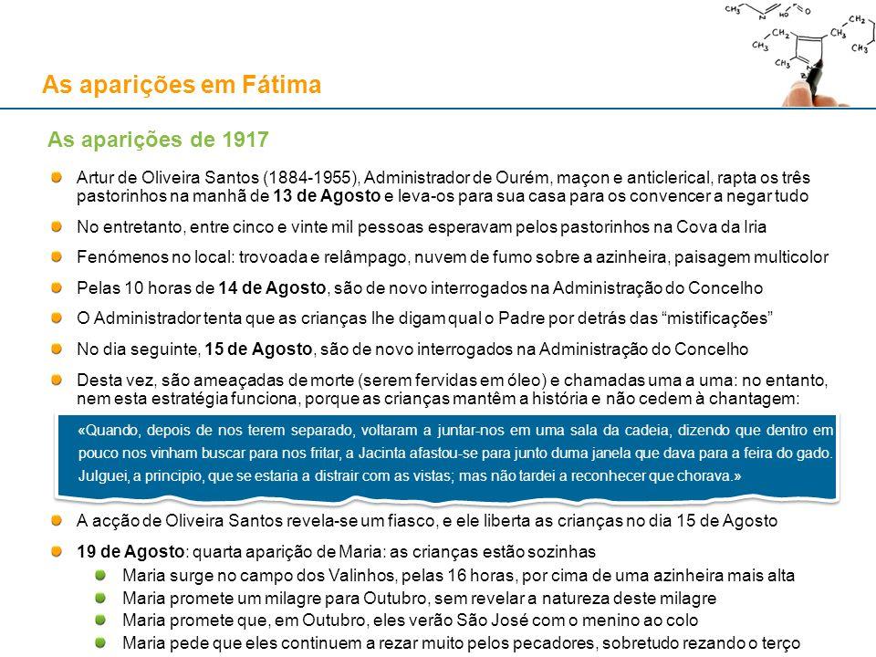 As aparições em Fátima As aparições de 1917