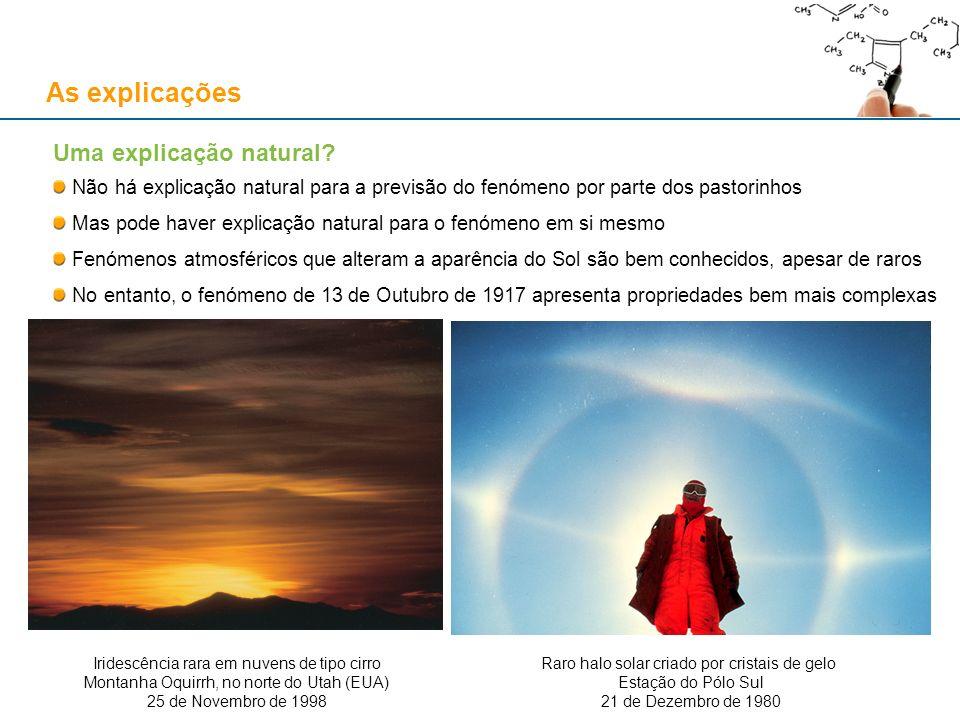 Esta explicação natural não afecta o carácter miraculoso da previsão!