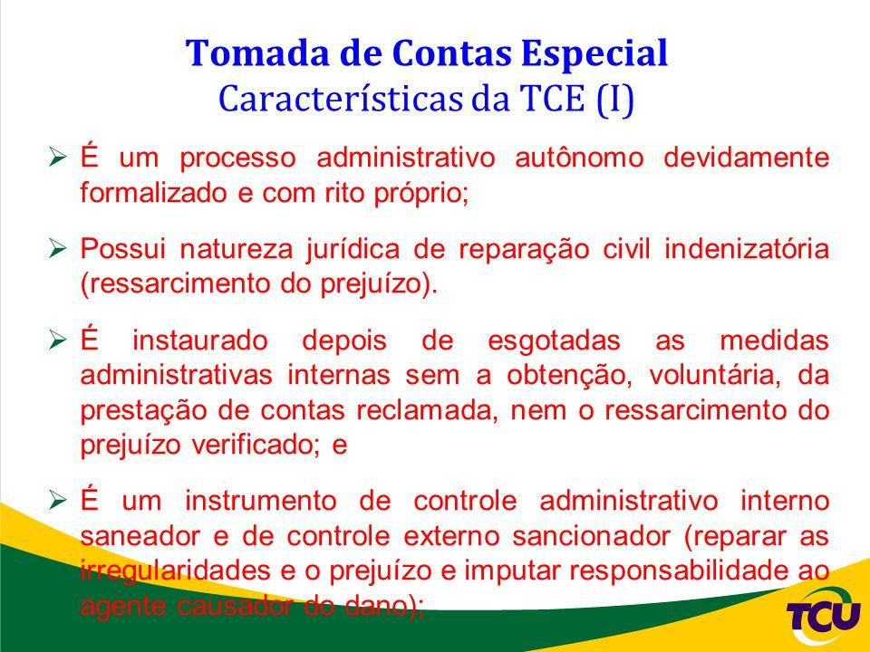 Tomada de Contas Especial Características da TCE (I)