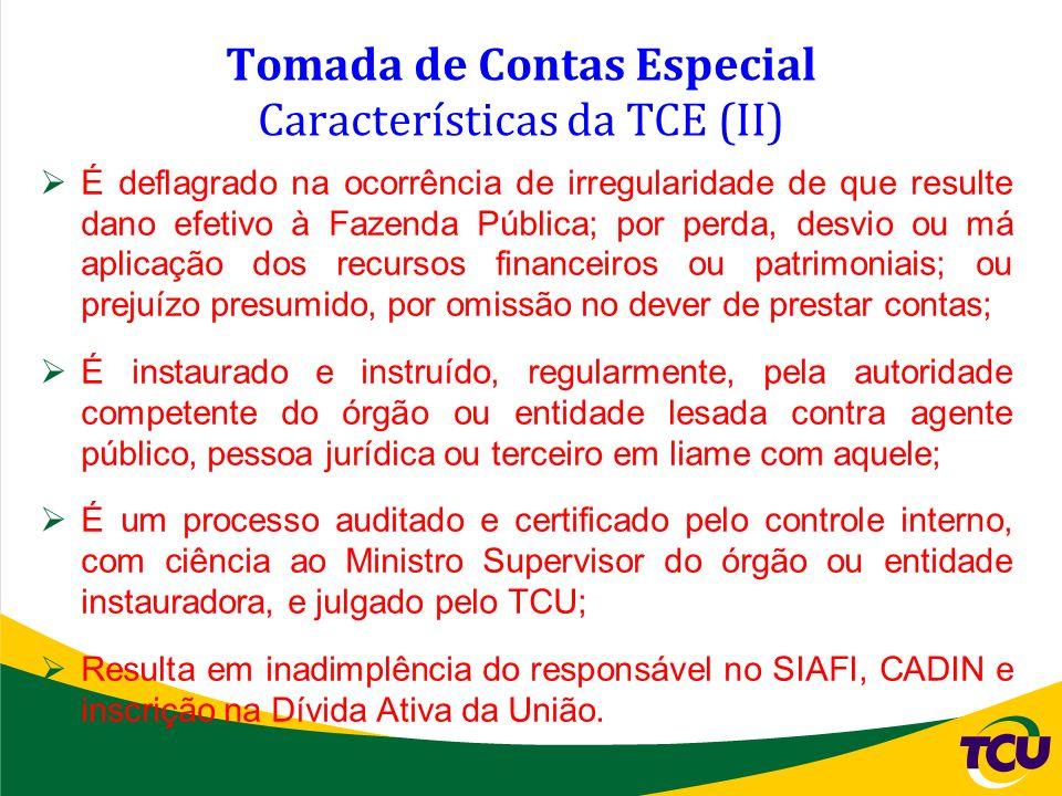 Tomada de Contas Especial Características da TCE (II)