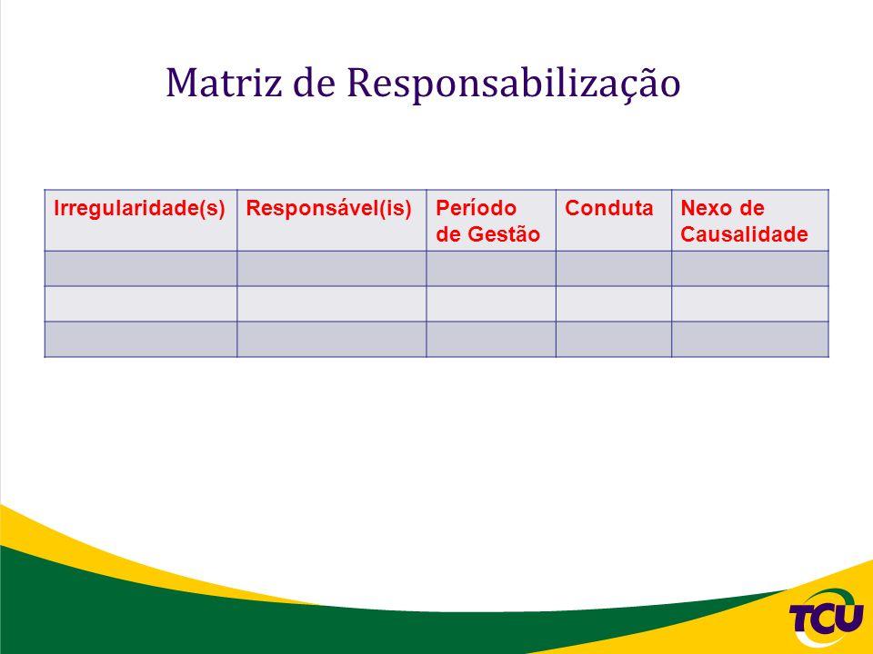 Matriz de Responsabilização