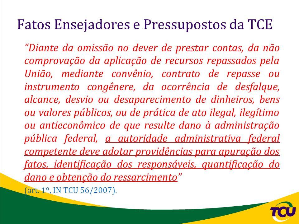 Fatos Ensejadores e Pressupostos da TCE