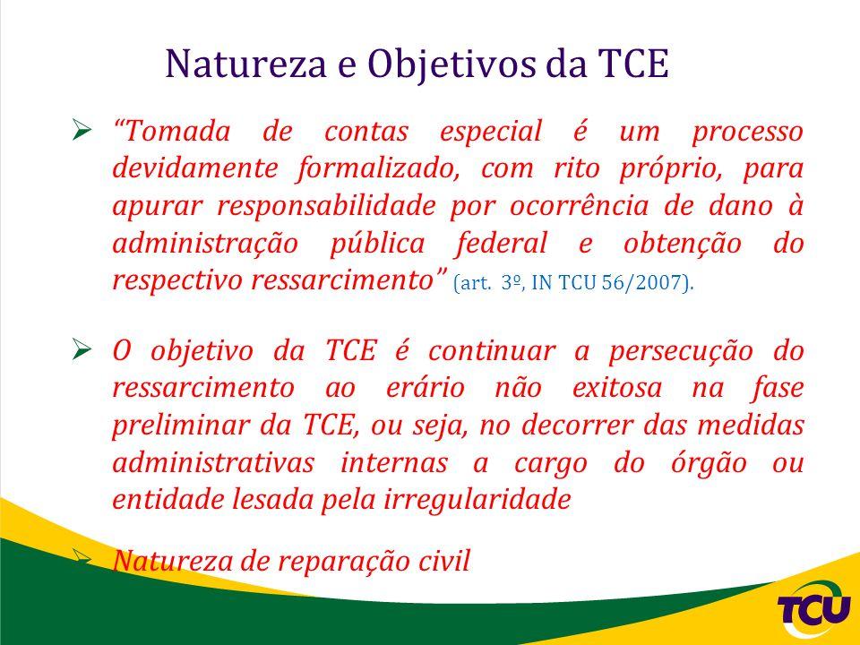 Natureza e Objetivos da TCE