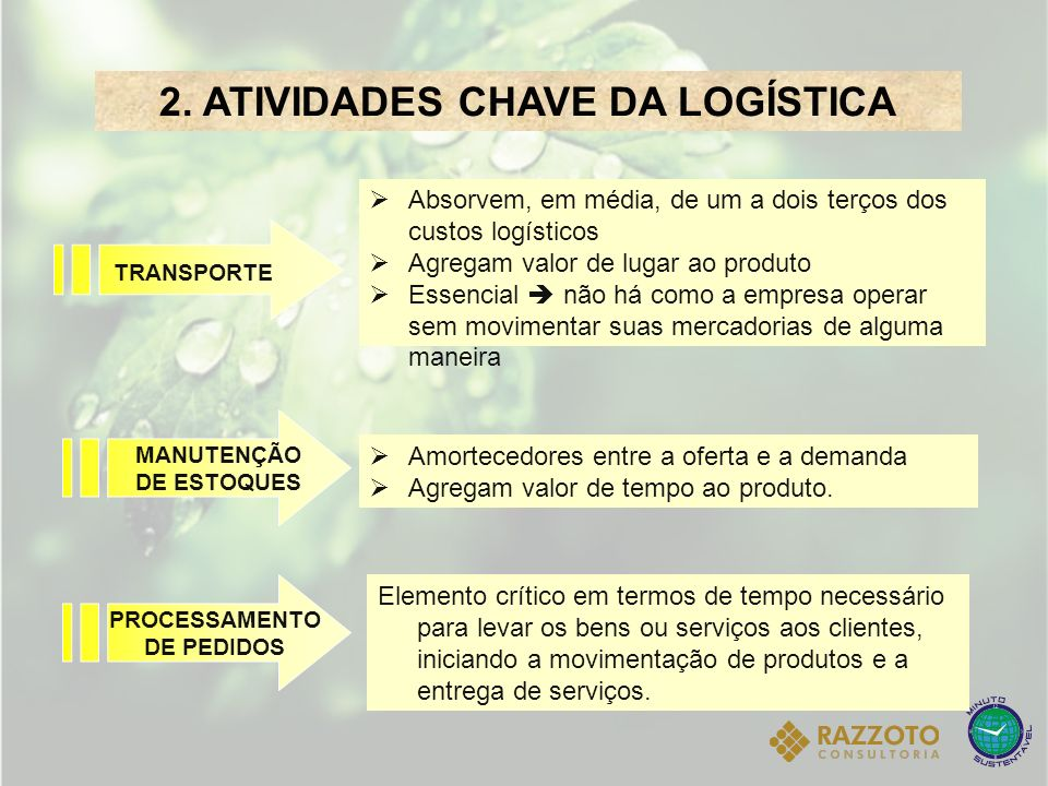 2. ATIVIDADES CHAVE DA LOGÍSTICA