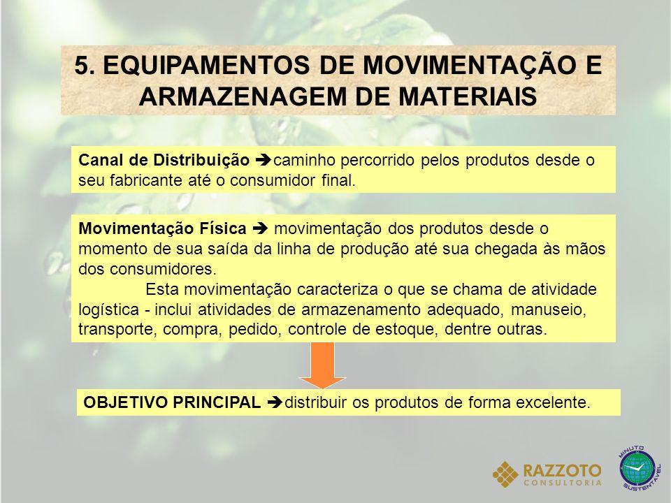 5. EQUIPAMENTOS DE MOVIMENTAÇÃO E ARMAZENAGEM DE MATERIAIS