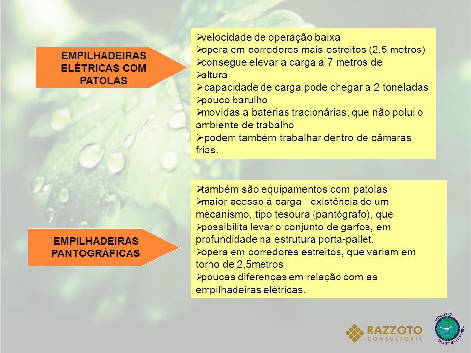 EMPILHADEIRAS ELÉTRICAS COM PATOLAS EMPILHADEIRAS PANTOGRÁFICAS