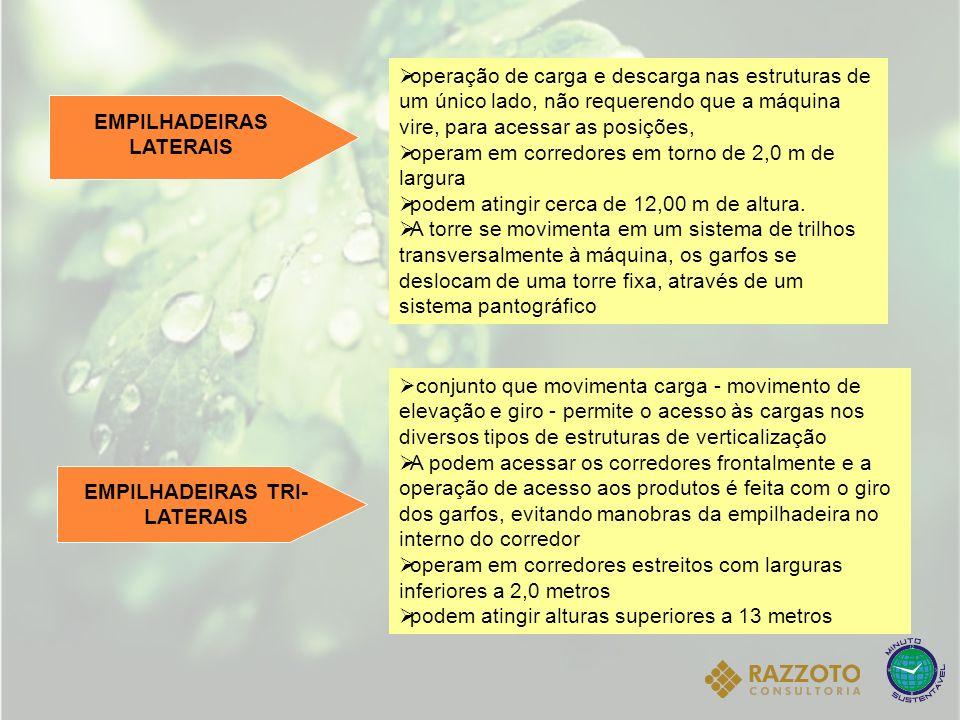 EMPILHADEIRAS LATERAIS EMPILHADEIRAS TRI-LATERAIS