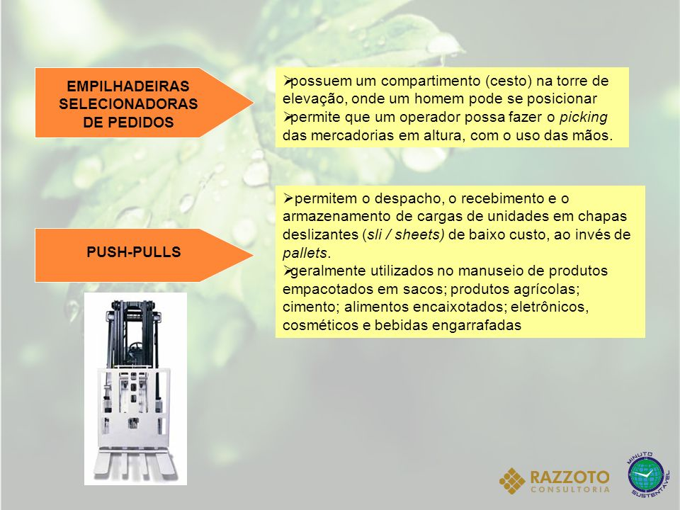 EMPILHADEIRAS SELECIONADORAS DE PEDIDOS