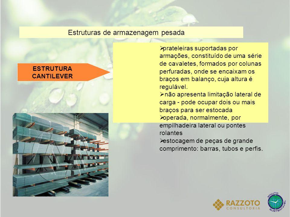 Estruturas de armazenagem pesada