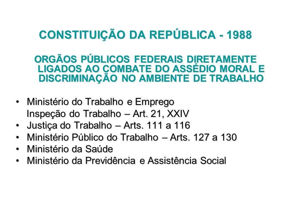 CONSTITUIÇÃO DA REPÚBLICA - 1988