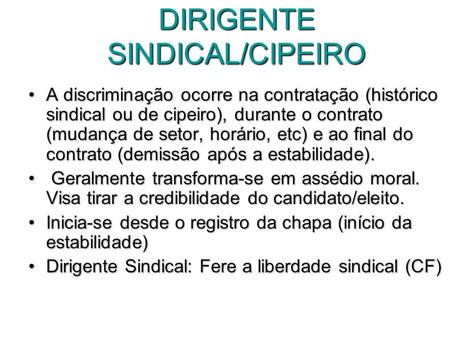 DIRIGENTE SINDICAL/CIPEIRO
