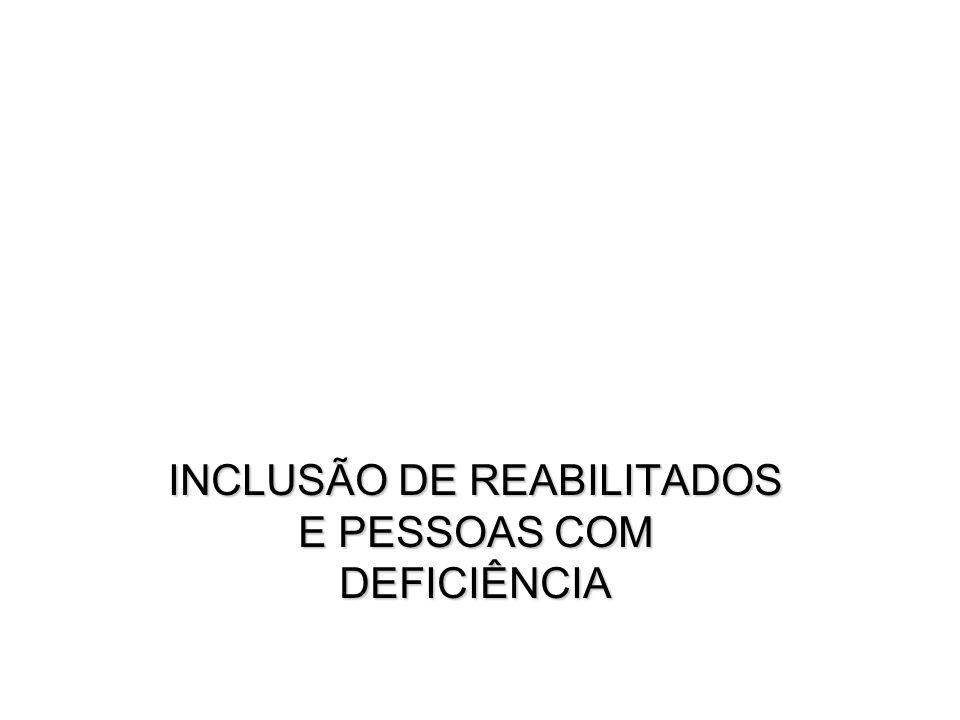 INCLUSÃO DE REABILITADOS E PESSOAS COM DEFICIÊNCIA
