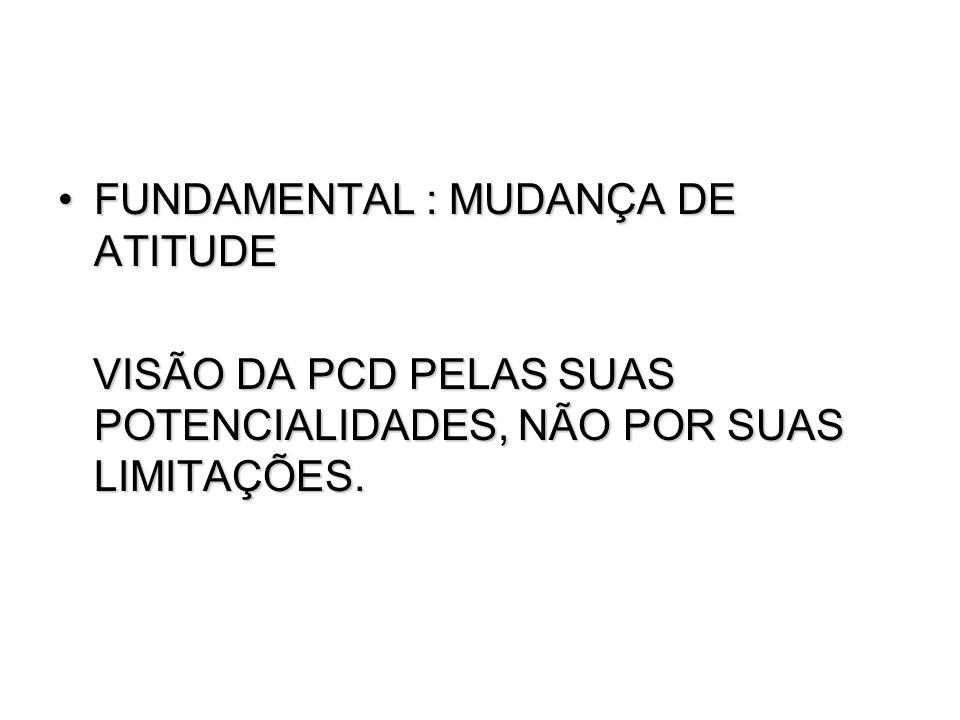 FUNDAMENTAL : MUDANÇA DE ATITUDE