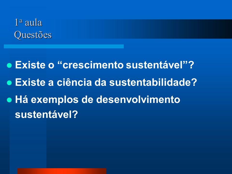 1a aula Questões Existe o crescimento sustentável .