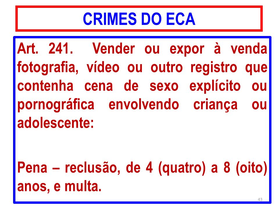 CRIMES DO ECA
