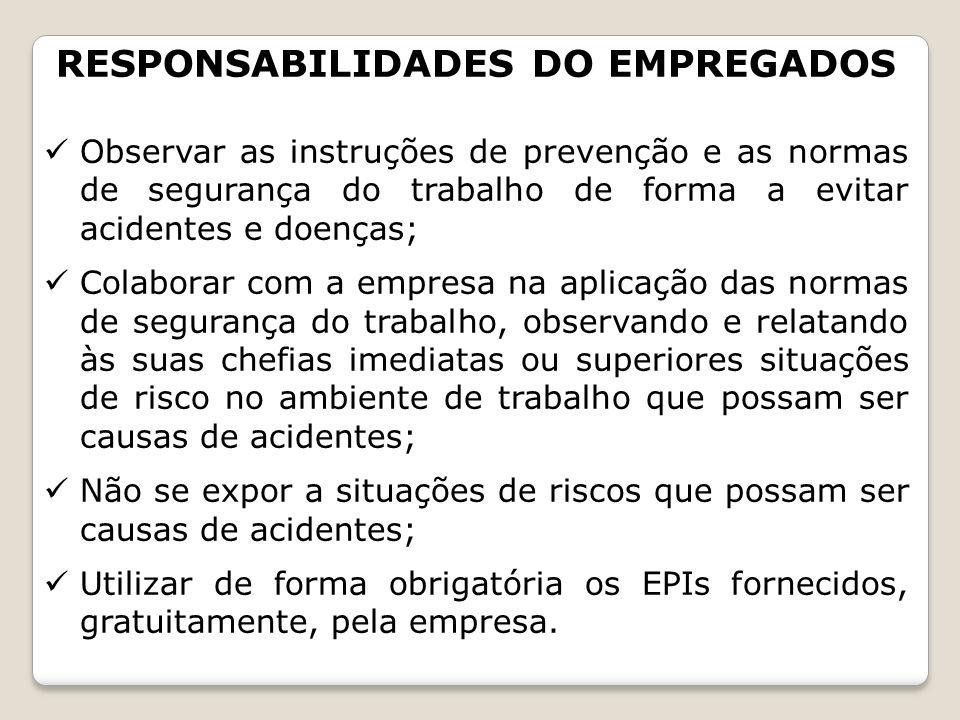RESPONSABILIDADES DO EMPREGADOS
