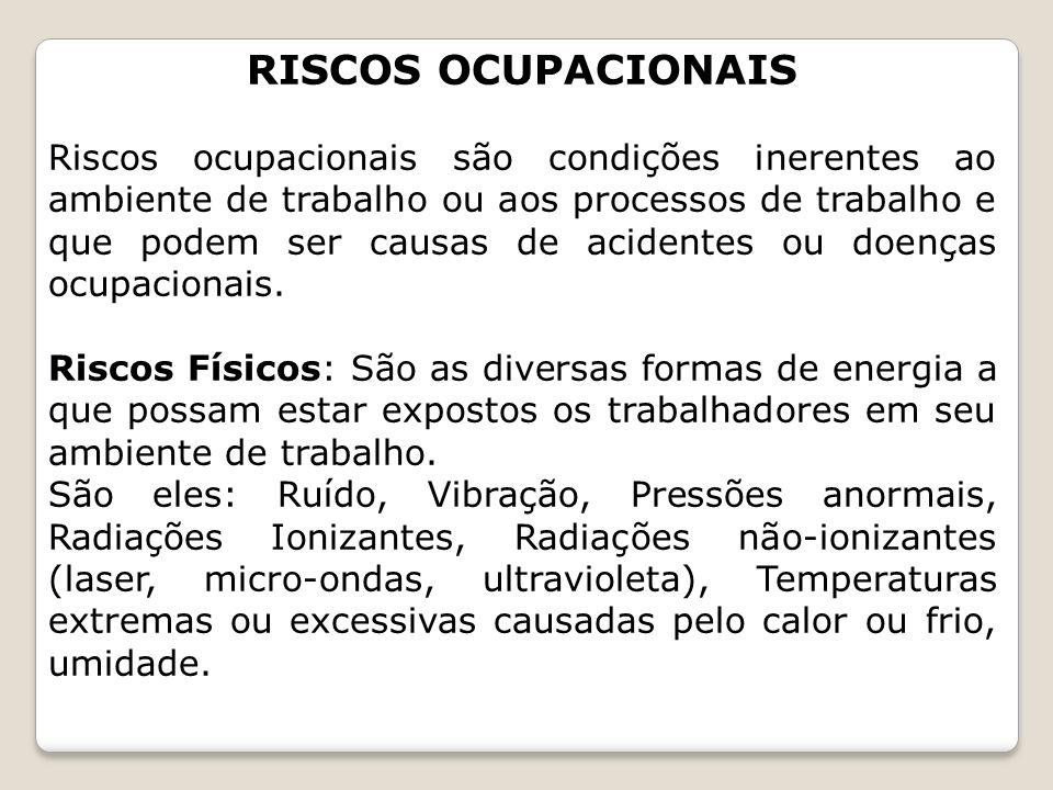 RISCOS OCUPACIONAIS